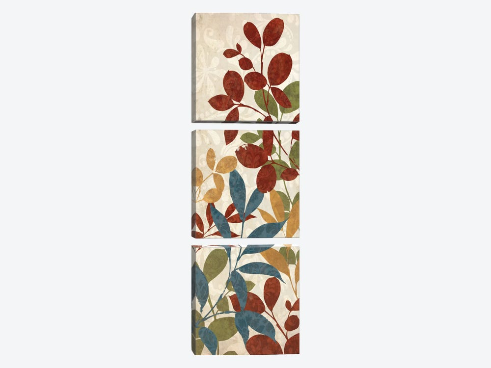 Leaves of Color I by Wild Apple Portfolio 3-piece Canvas Art Print