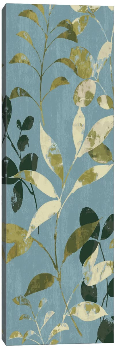 Leaves on Blue I Canvas Art Print