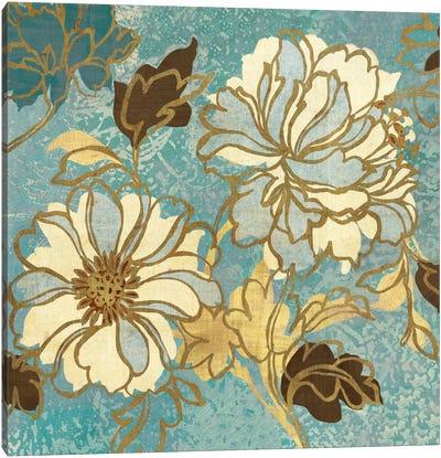 Sophias Flowers I Blue Canvas Print #WAC1944