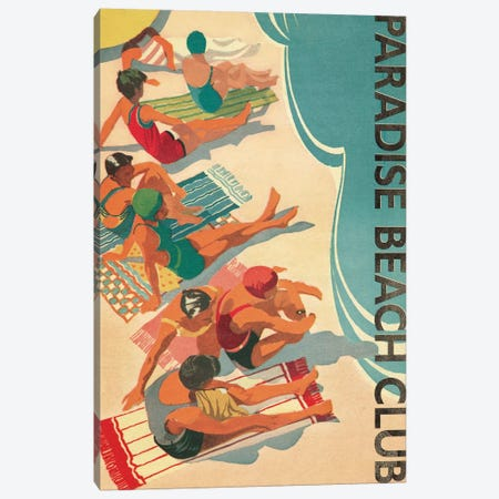 Paradise Beach Club Canvas Print #WAC1945} by Wild Apple Portfolio Canvas Print