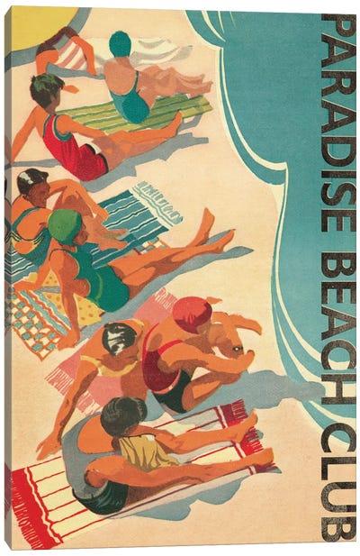 Paradise Beach Club Canvas Print #WAC1945