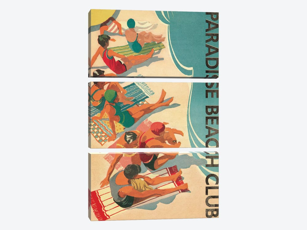 Paradise Beach Club by Wild Apple Portfolio 3-piece Art Print