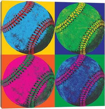 Balll Four-Baseball Canvas Art Print