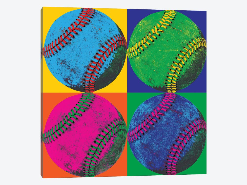 Ball Four-Baseball by Wild Apple Portfolio 1-piece Canvas Wall Art