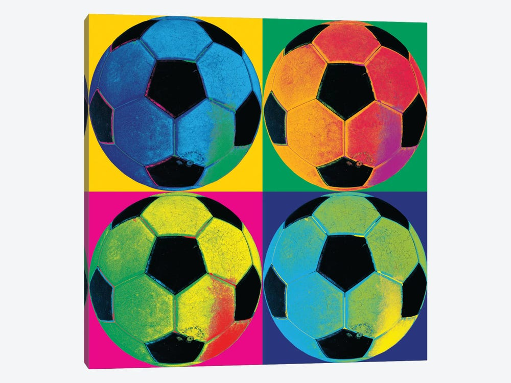 Ball Four-Soccer by Wild Apple Portfolio 1-piece Canvas Print