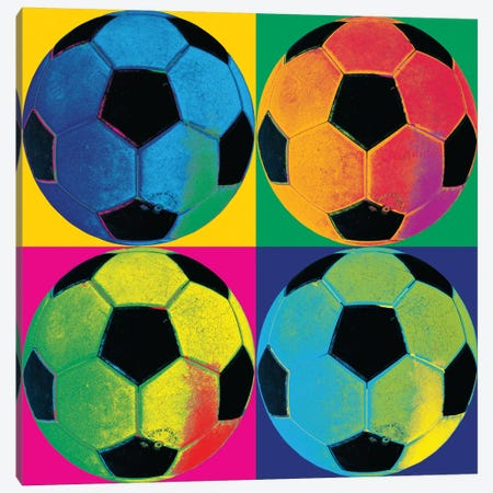 Ball Four-Soccer Canvas Print #WAC1947} by Wild Apple Portfolio Art Print