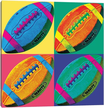Ball Four-Football Canvas Art Print