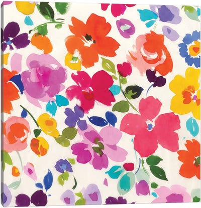 Bright Florals I Canvas Art Print
