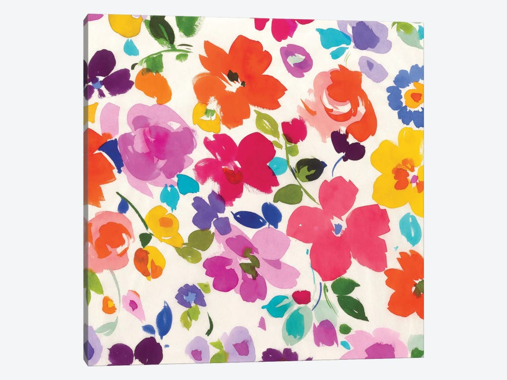 Bright Florals I by Wild Apple Portfolio 1-piece Art Print