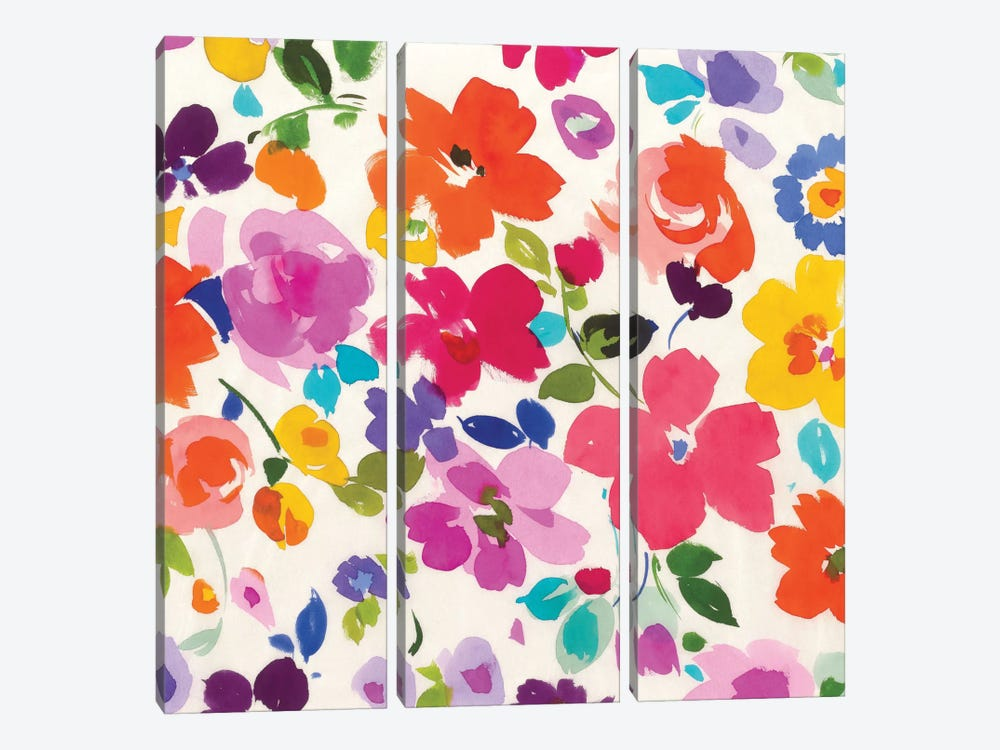 Bright Florals I by Wild Apple Portfolio 3-piece Art Print