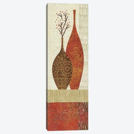 Spice Stripe Vessels Panel IV Canvas Print #WAC1954} by Wild Apple Portfolio Canvas Artwork