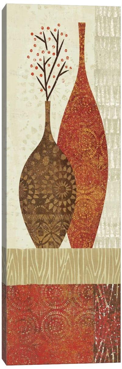 Spice Stripe Vessels Panel IV Canvas Art Print