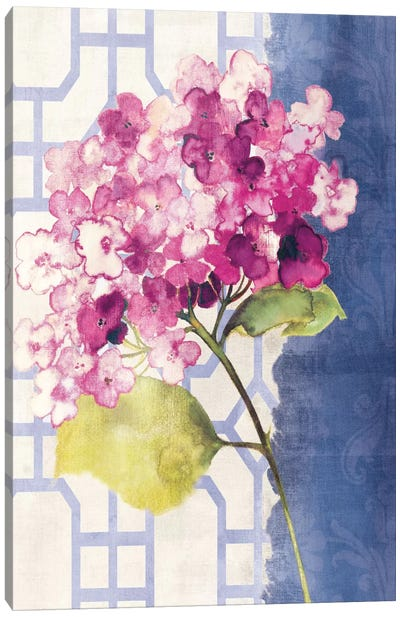 Antique Floral on White I Canvas Print #WAC1963