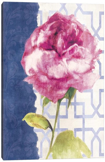Antique Floral on White II Canvas Print #WAC1964