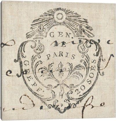 Letter Crest I Canvas Art Print