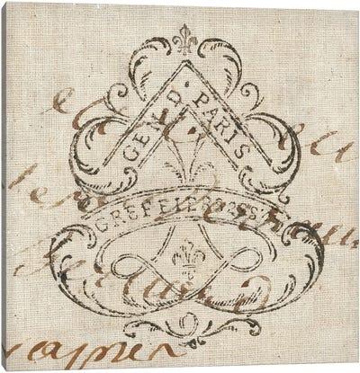 Letter Crest III Canvas Art Print