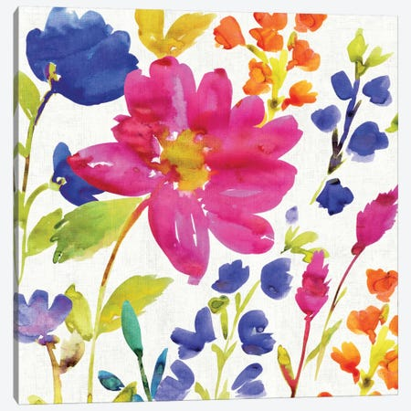 Floral Medley I Canvas Print #WAC1975} by Wild Apple Portfolio Canvas Artwork