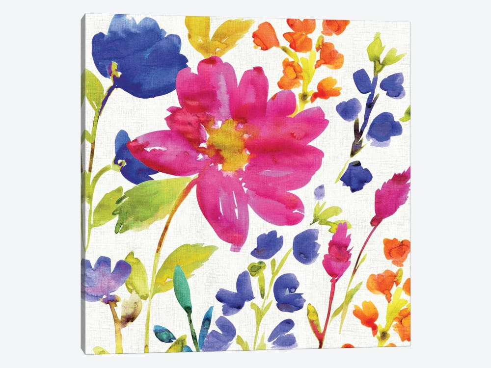 Floral Medley I by Wild Apple Portfolio 1-piece Canvas Artwork