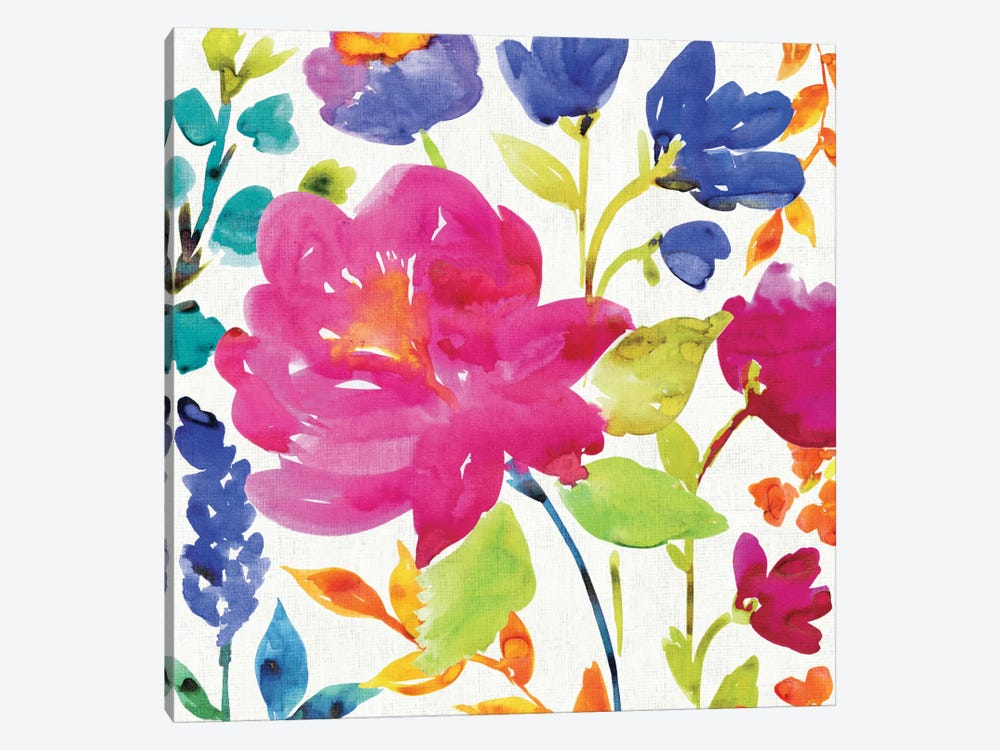 Floral Medley II by Wild Apple Portfolio 1-piece Art Print