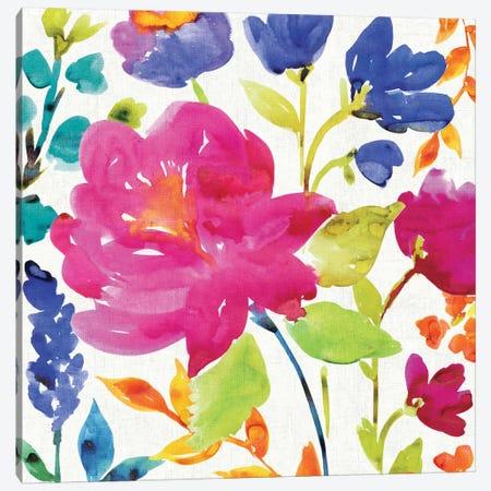 Floral Medley II 3-Piece Canvas #WAC1976} by Wild Apple Portfolio Canvas Art