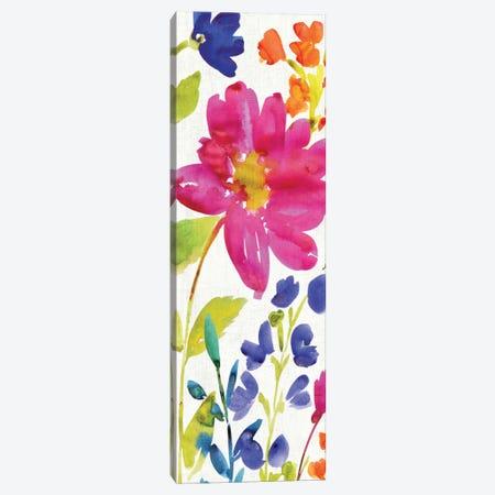 Floral Medley Panel I Canvas Print #WAC1977} by Wild Apple Portfolio Canvas Art