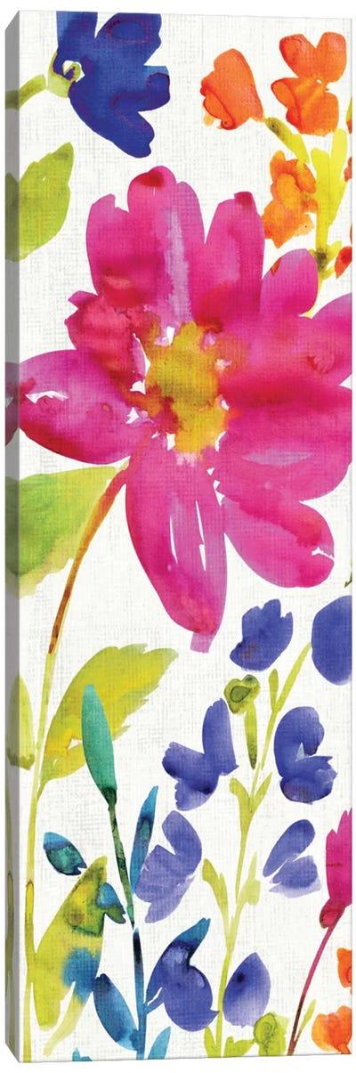 Floral Medley Panel I Canvas Print #WAC1977