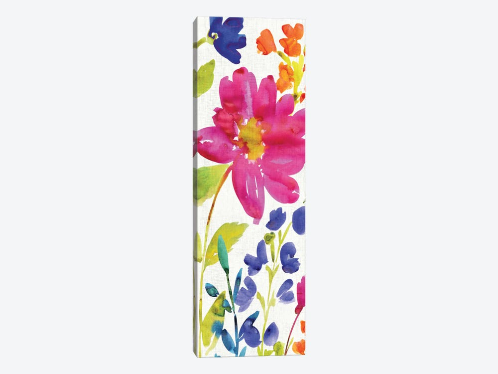 Floral Medley Panel I by Wild Apple Portfolio 1-piece Canvas Wall Art