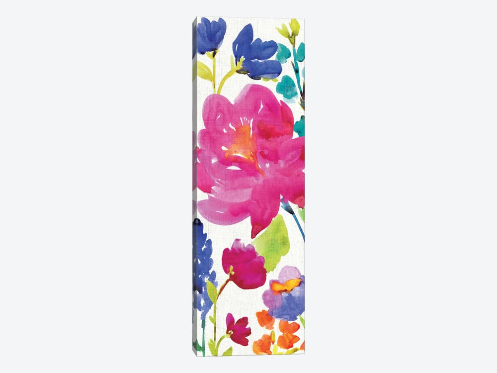 Floral Medley Panel II by Wild Apple Portfolio 1-piece Art Print