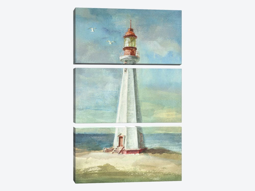 Lighthouse III by Danhui Nai 3-piece Canvas Print