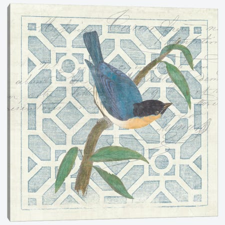 Monument Etching Tile I Blue Bird Canvas Print #WAC1985} by Wild Apple Portfolio Art Print