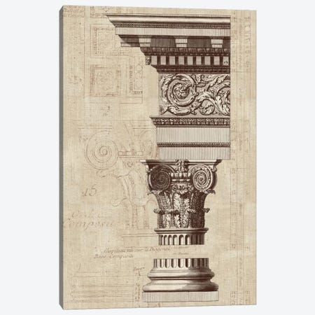 Architectural Rendering I Burlap Sepia Crop Canvas Print #WAC1987} by Wild Apple Portfolio Canvas Print