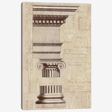 Architectural Rendering II Burlap Sepia Crop Canvas Print #WAC1988} by Wild Apple Portfolio Canvas Wall Art