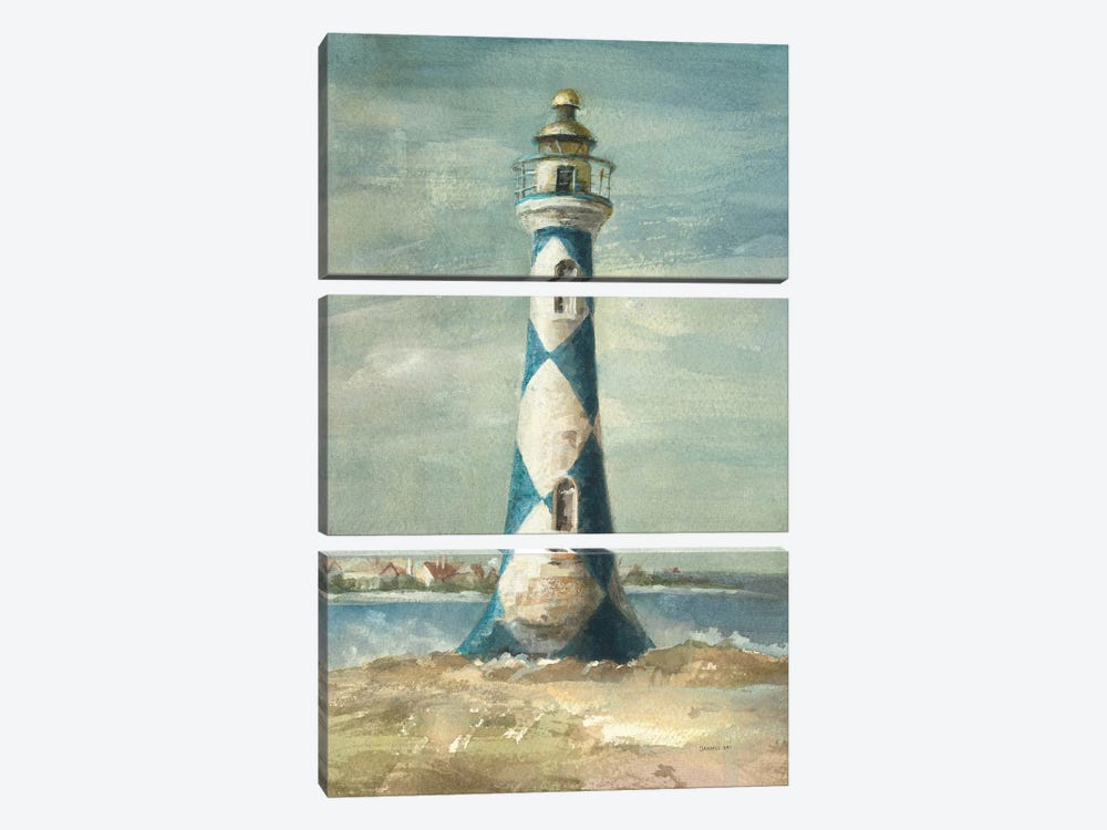 Lighthouse IV by Danhui Nai 3-piece Canvas Wall Art