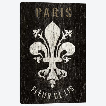 Refurbished Fleur de Lis Canvas Print #WAC1992} by Wild Apple Portfolio Canvas Art Print