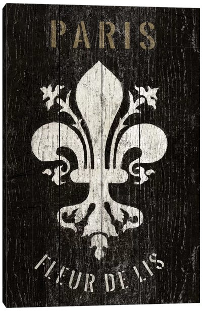 Refurbished Fleur de Lis Canvas Print #WAC1992