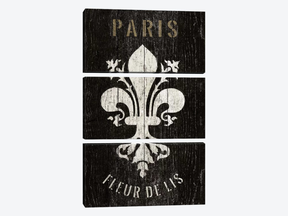 Refurbished Fleur de Lis by Wild Apple Portfolio 3-piece Canvas Art Print