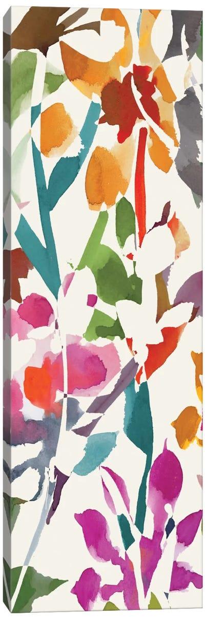 Pink Garden Panel I Canvas Print #WAC1998