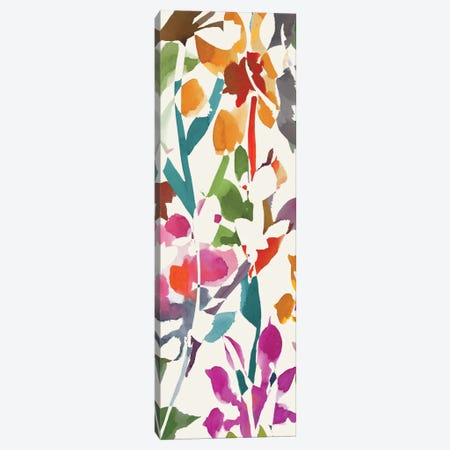 Pink Garden Panel I Canvas Print #WAC1998} by Wild Apple Portfolio Canvas Print