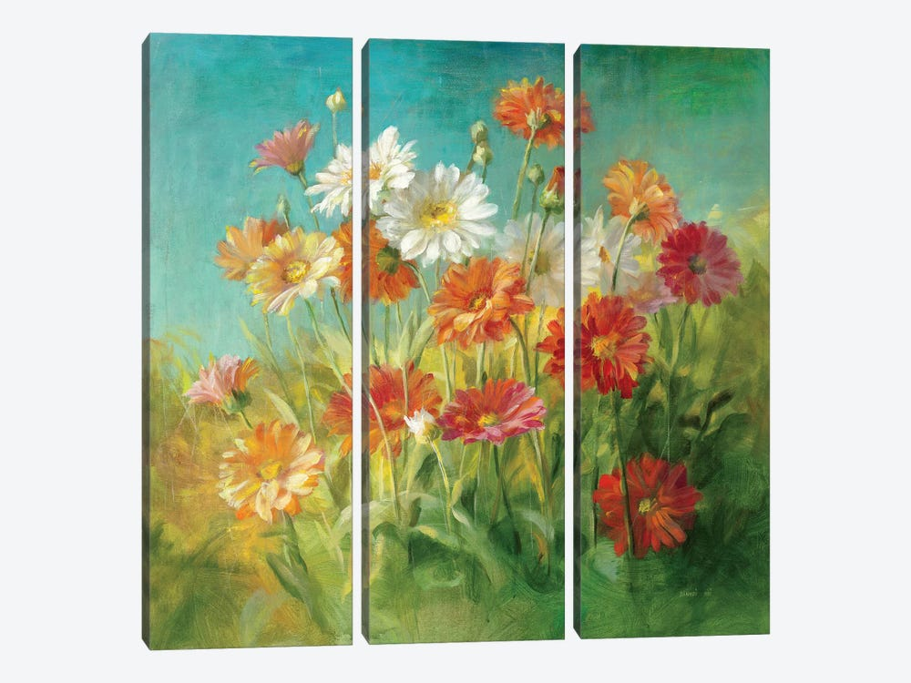 Painted Daisies 3-piece Art Print