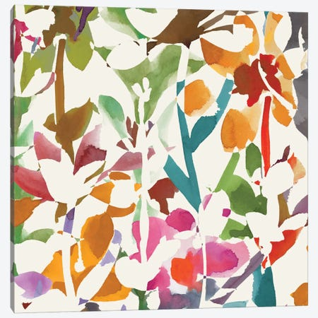 Pink Garden I Canvas Print #WAC2000} by Wild Apple Portfolio Art Print