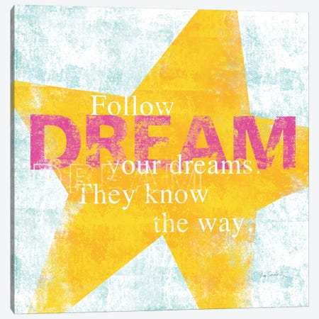 Letterpress Dream Canvas Print #WAC2004} by Sue Schlabach Canvas Art