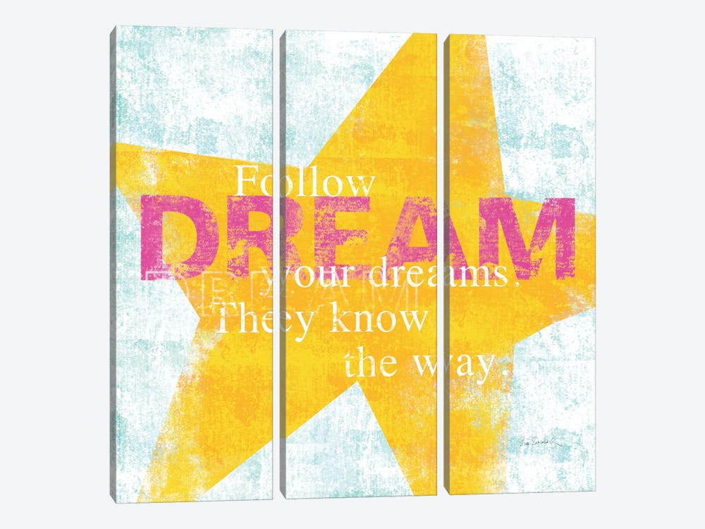 Letterpress Dream 3-piece Canvas Artwork