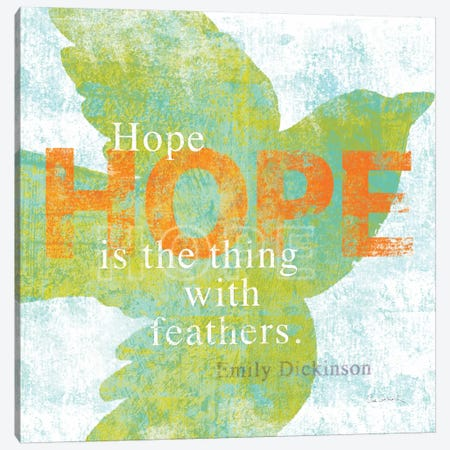 Letterpress Hope Canvas Print #WAC2005} by Sue Schlabach Canvas Wall Art