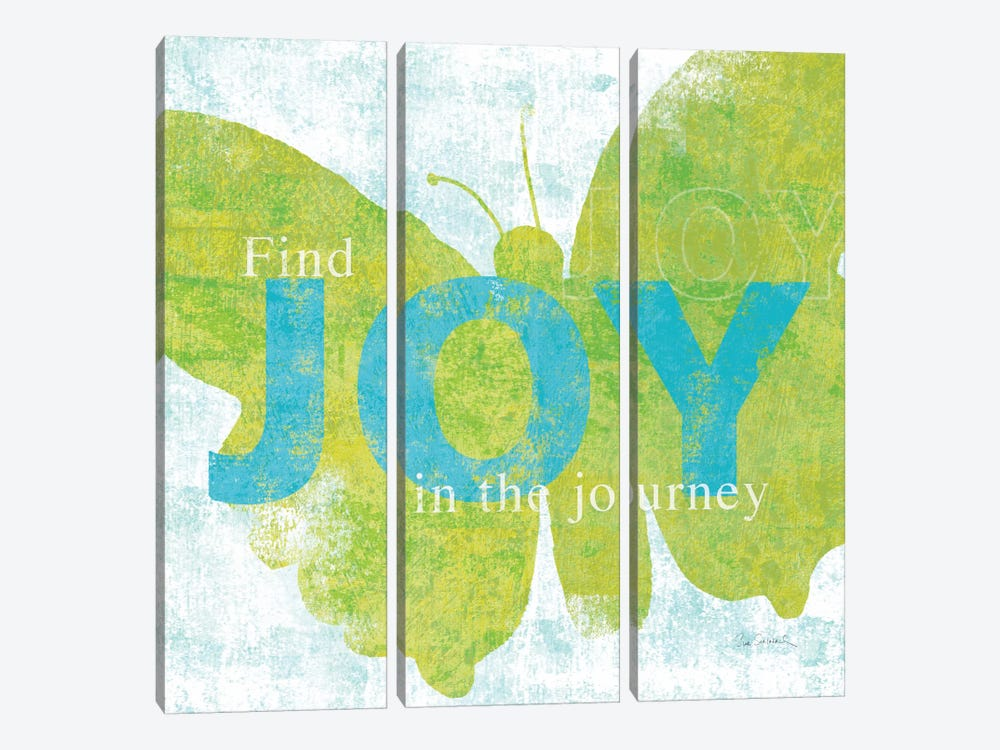Letterpress Joy by Sue Schlabach 3-piece Canvas Art