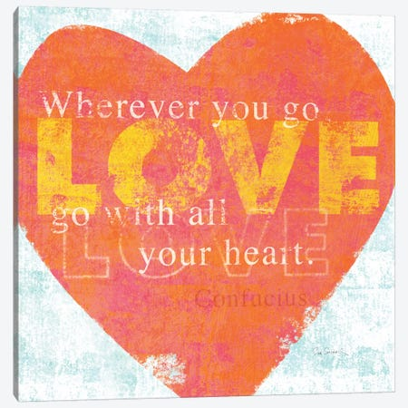 Letterpress Love Canvas Print #WAC2007} by Sue Schlabach Canvas Art