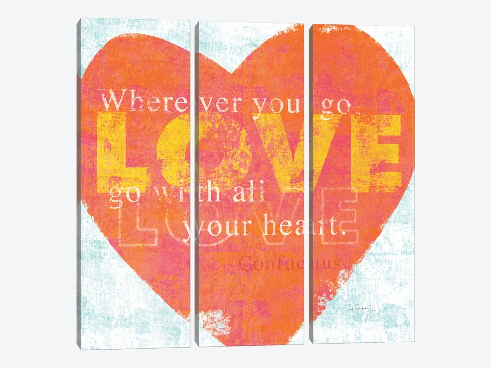 Letterpress Love by Sue Schlabach 3-piece Canvas Print