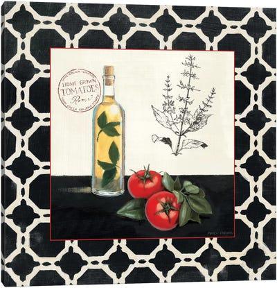 Basil and Tomatoes Canvas Art Print