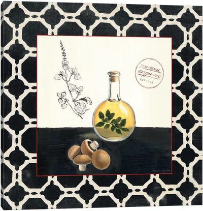 Oregano and Mushrooms Canvas Art Print