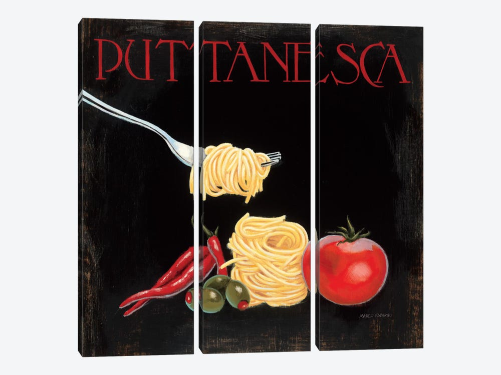 Italian Cuisine I 3-piece Canvas Wall Art