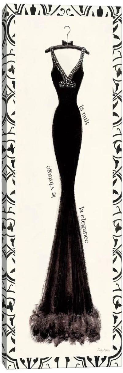 Couture Noir Original I with Border Canvas Art Print